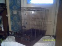 BIRD CAGE , QUITE A BIG ONE , the TOP COMES OFF to CLEAN etc . with FOOD TRAYS +++++