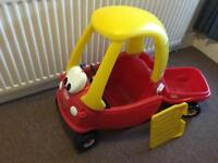 As new Little Tikes Cozy Coupe and Trailer