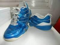 Dunlop blue/white squash shoes size 6.5