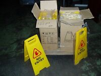 JOBLOT NO ENTRY SAFETY SIGN FOLDABLE SIGN PRINTED CLEANING HEALTH AND SAFETY