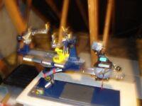 Table top racket strining machine