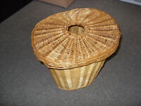 wicker basket with lid. storage box