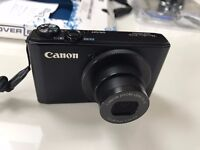 Canon PowerShot S110 Digital Camera-Black (12.1MP0) 3 inch TouchscreenLCD+SDcard(64gb)+Extra Battery