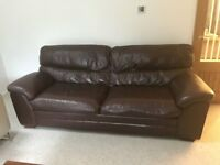 Sofa Leather Large 4 Seater