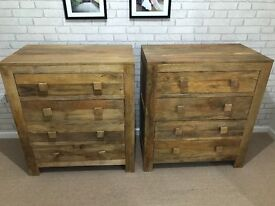 Mantis Light Natural Solid Mango 4 Drawer Chest From Oak Funiture