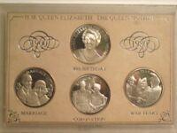 H.M. Queen Elizabeth The Queen Mother 1900-1980 medallion set in a case
