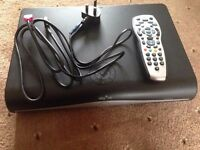 Sky box HD box with 500Gb hard drive plus remote Working and cash on collection
