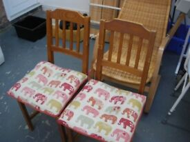 6 IKEA CHAIRS WITH CUSHIONS