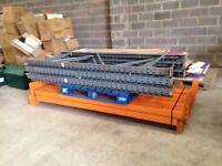 5 bay run of dexion pallet racking , ( storage , industrial shelving )