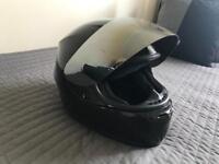 Black Motorbike Helmet with Visor