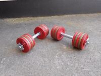 2 x 11.5kg Dumbbells Weights - Plymouth