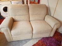 2 seater recliner settee, in good condition.