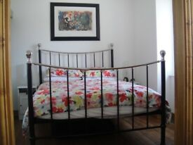 Metal black and silver bed frame ( King size)