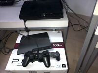 PS3 160GB Slim console in original box. Incl. controller, power cable + 2 games. Good condition.