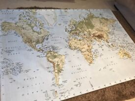 Ikea large world map canvas