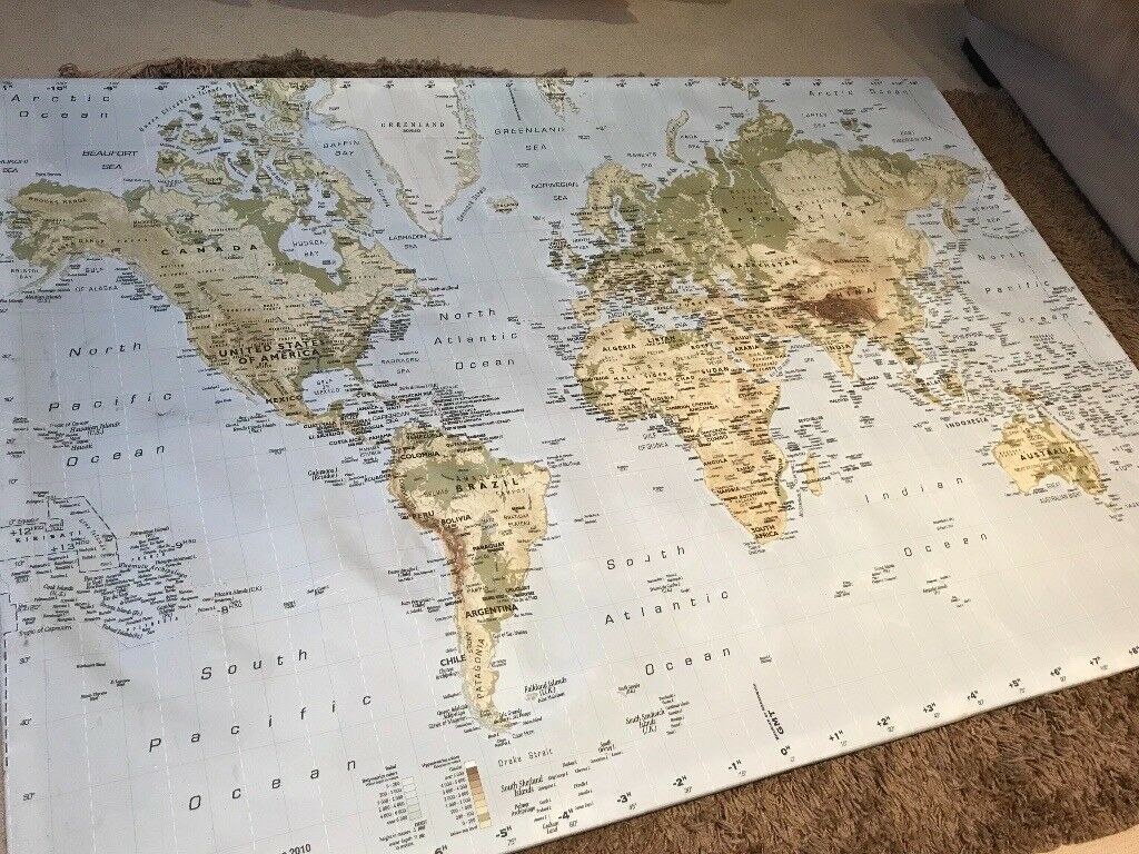Ikea Large World Map Canvas In Ponteland Tyne And Wear Gumtree