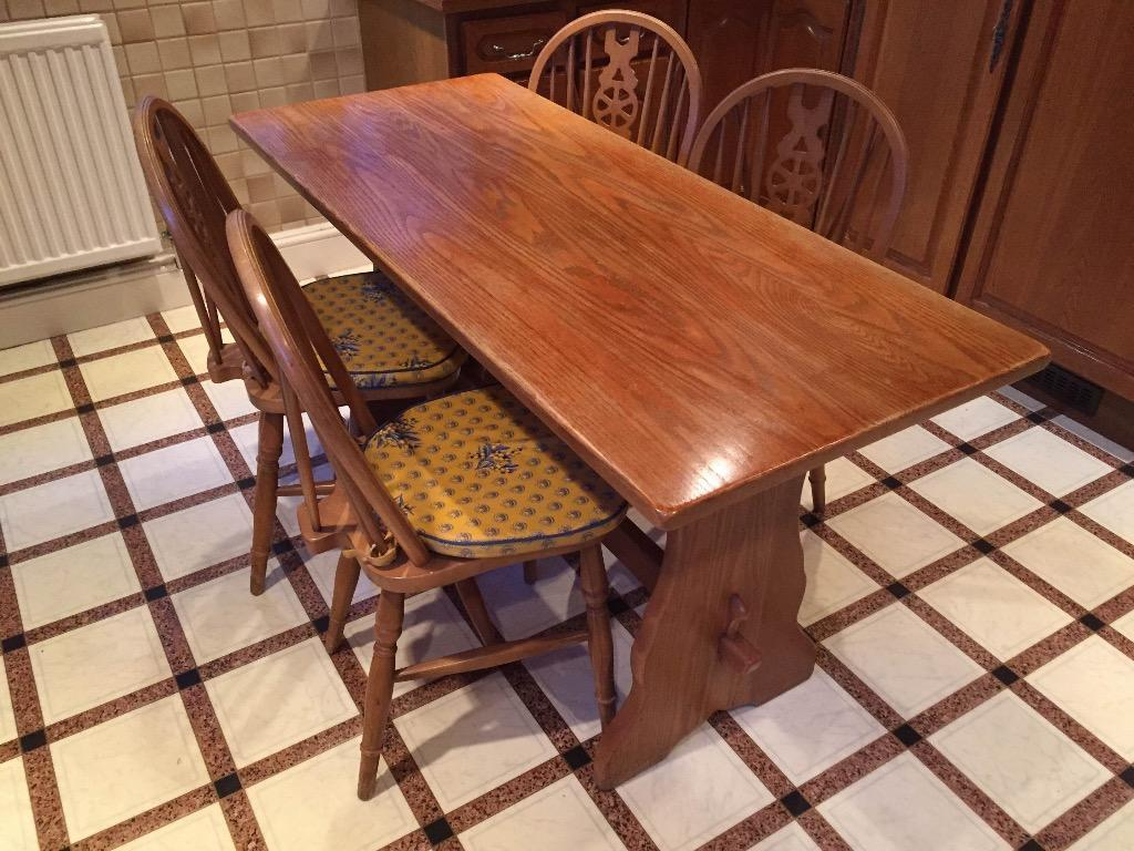 Kitchen Table and 4 Chairs Rustic look in Stanmore  : 86 from www.gumtree.com size 1024 x 768 jpeg 121kB