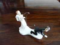BRIDE AND GROOM CAKE TOPPER - NEW