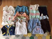 Boys girls unisex bundle clothes. Newborn to 3 months