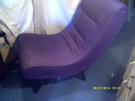 A FANTASTIC RECLINER CHAIR of UNUSUAL but VERY COMFORTABLE DESIGN ( possibly G-Plan ? )