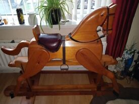 Wooden Rocking Horse in immaculate condition, has been very looked after.