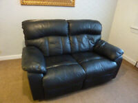recliner 2 seater black washable PU leather 165 width.