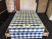 4ft 6' 2 draw Orthapedic divan set (FREE DELIVERY)