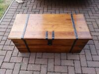Solid wooden chest