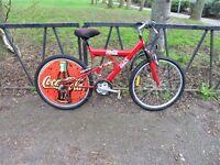 Original COCA COLA Promo Full Suspension Mountain Bike. Fully Serviced & Ready To Ride. Guaranteed.