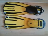 Mares Avanti quattro+ yellow fins- never used size L Regular £60