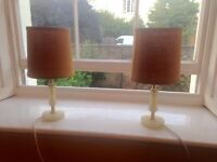 2 nice lamps given away due to moving. Pick up as soon as possible.