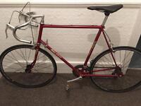Vintage Maroon Raleigh Road Bike