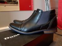 Dune Chili Chelsea Boots, Size 10/44