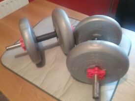 Set of weights 6.5 kg/ 14.3pds very good condition