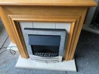 ELECTRIC FIRE LIKE NEW WITH FULL SURROUND