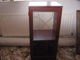 Hi Fi cabinet pattered glass door
