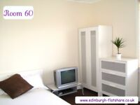 RM 60 Edinburgh Flatshare - NO DEPOSIT - ALL BILLS INCLUDED IN WEEKLY RENT