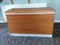 Teak facing Chest of 3 draws