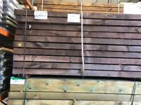 Hardwood sleepers railway