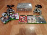 Crystal Clear Xbox Original Console Bundle 2 Controllers And 7 Games 3 Sealed