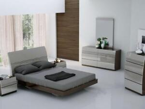 Light Grey Modern Queen Bed (KA208)