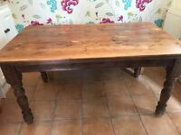 Oak dining table and chairs -ONO