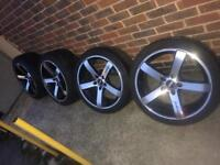 "19"" Rota style BMW alloy wheels 5x120 3 5 7 series x5 x6"