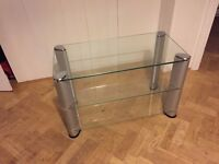 Glass TV Stand - 3 Shelves