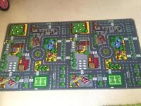 Large road map rug / play mat