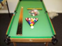 fold away pool table 4ft x 2ft