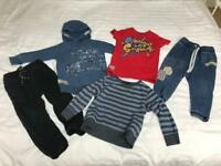 LARGE BUNDLE OF NEXT AND GAP BABY BOY CLOTHES. 18-24 MONTHS. 21 ITEMS. VGC