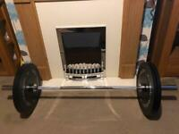 Olympic 5ft bar and 20kg 4x5kg bumper plates