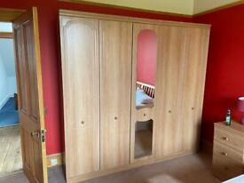 Wardrobe & Bedside Cabinet Set