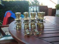 8 sets of brass door handles complete